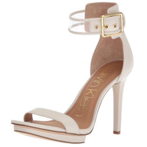 fe4eaa6a11f Calvin Klein Shoes - Calvin Klein vable platform sandal soft white